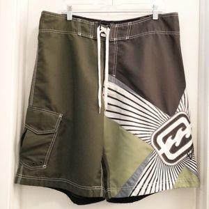 Billabong Board Shorts Shane Dorian Green/White 38